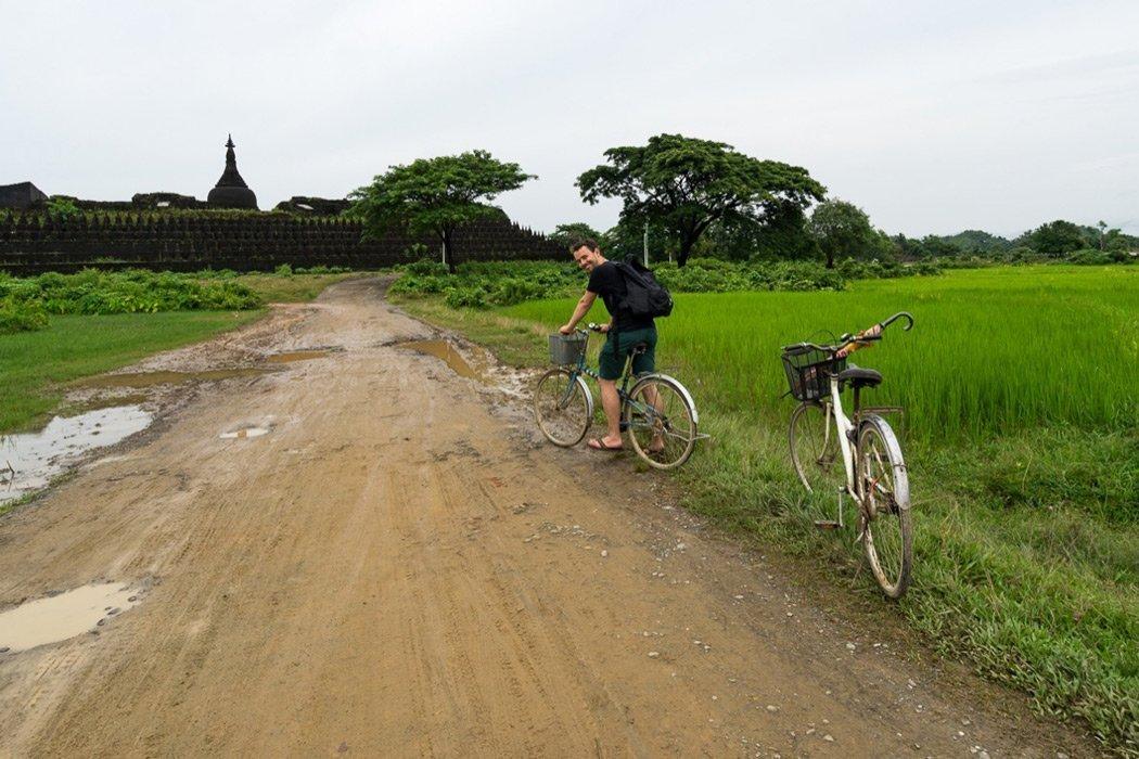 Mit dem Fahrrad durch Mrauk U