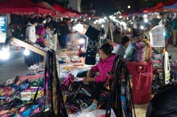 Nachtmarkt in Luang Prabang