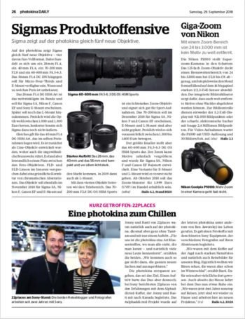 Interview in der Photokina Daily