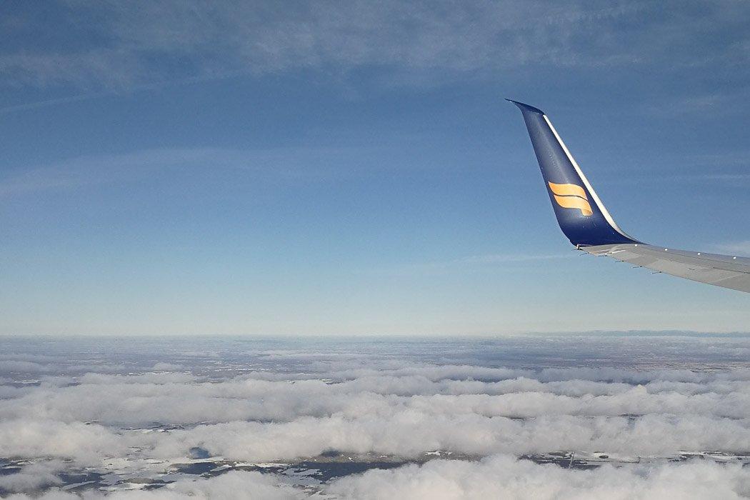 Flug mit Icelandair von Frankfurt über Island nach Edmonton in Kanada
