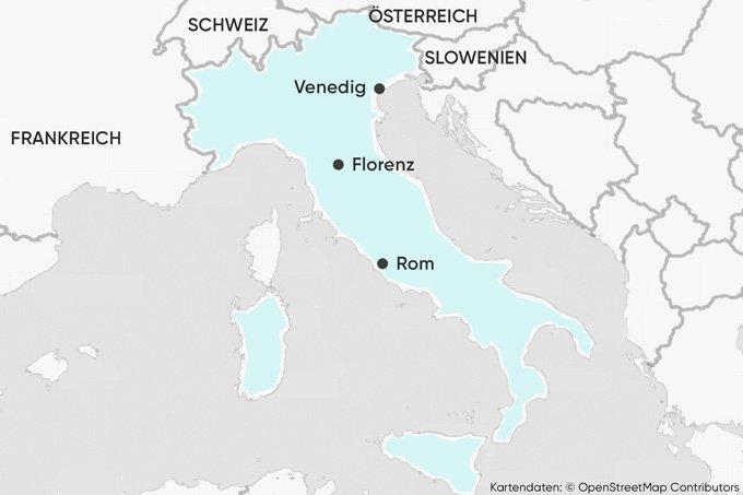 Hier liegt Italien - Karte