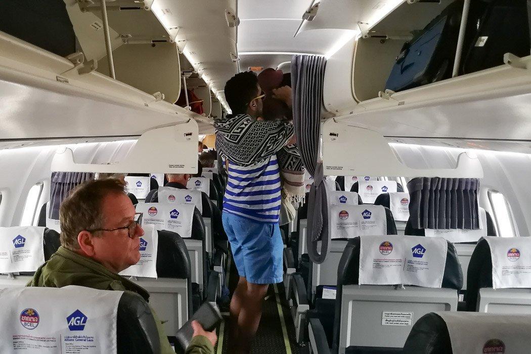 So sah unser Propellerflugzeug von Lao Airlines von Luang Prabang nach Chiang Mai aus