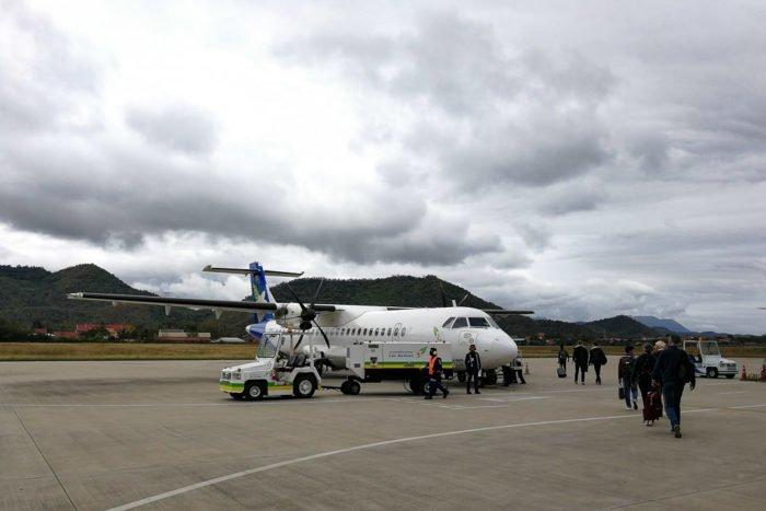 Unsere Propellermaschine von Lao Airlines