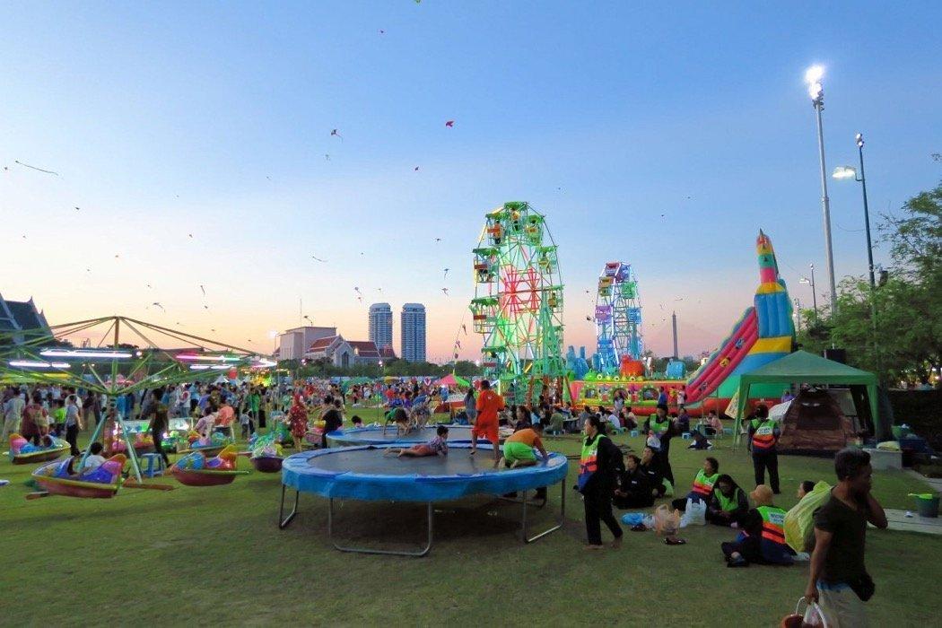 Thailändisches Neujahr in Bangkok