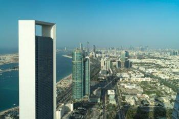 Blick auf Abu Dhabi