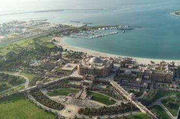 Blick auf das Emirates Palace Hotel