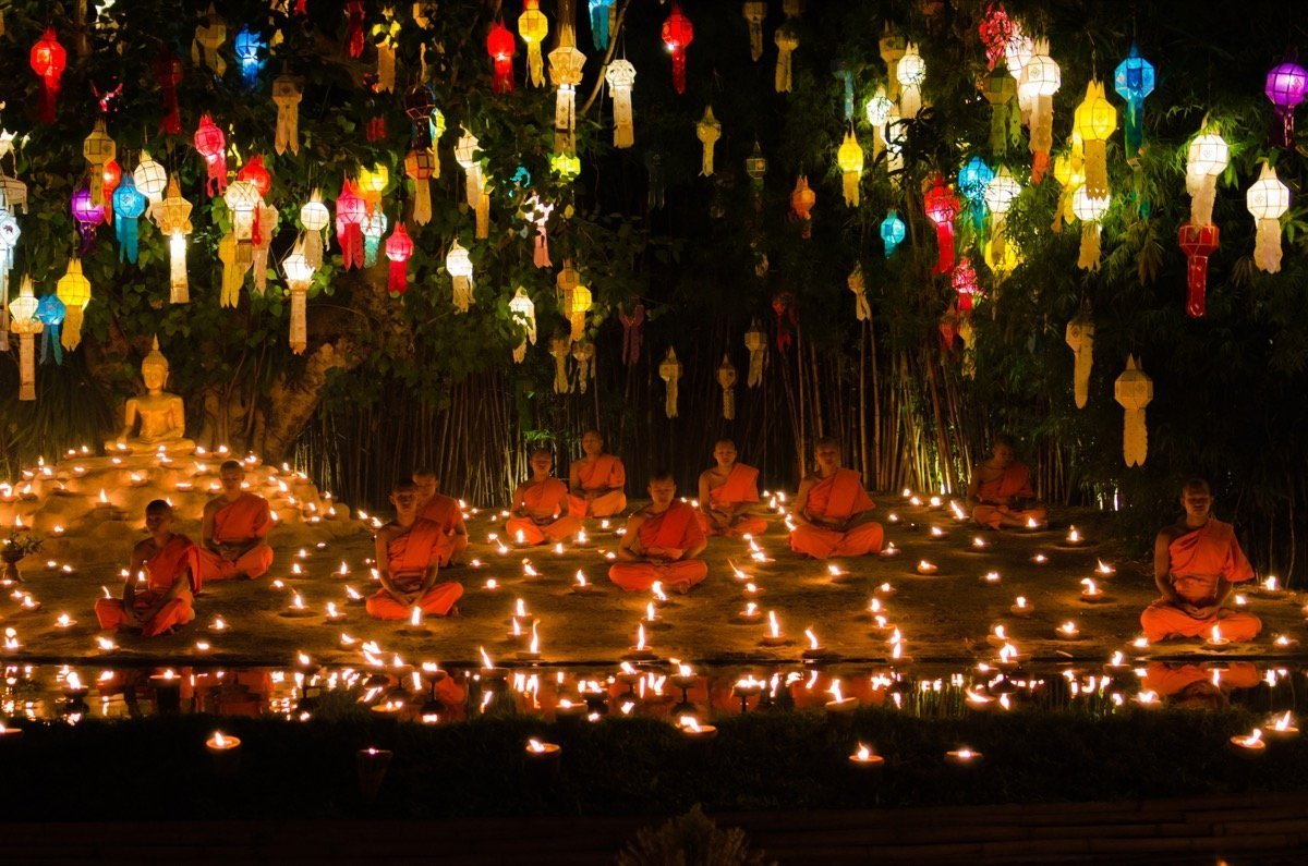 Loi Krathong Chiang Mai Tempel