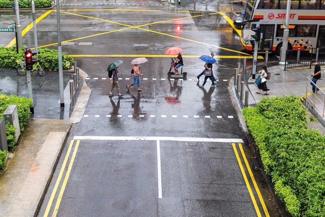 Regen in Singapur