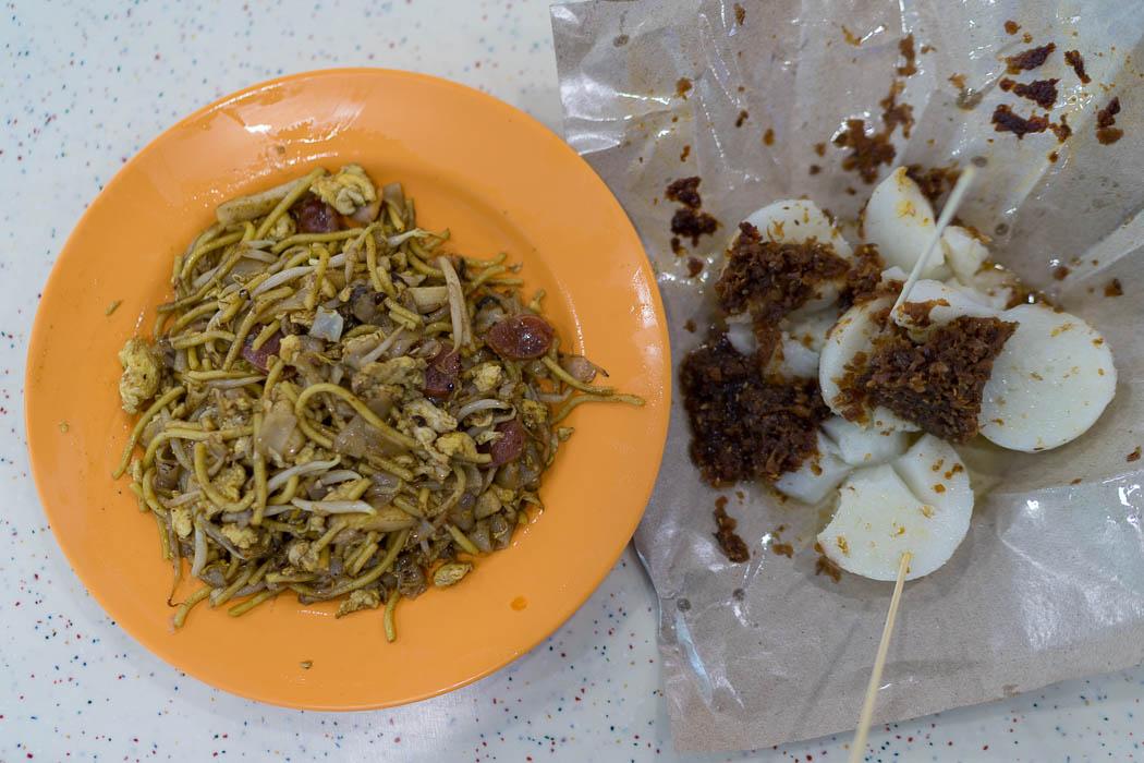 Das Essen im Tiong Bahru Market