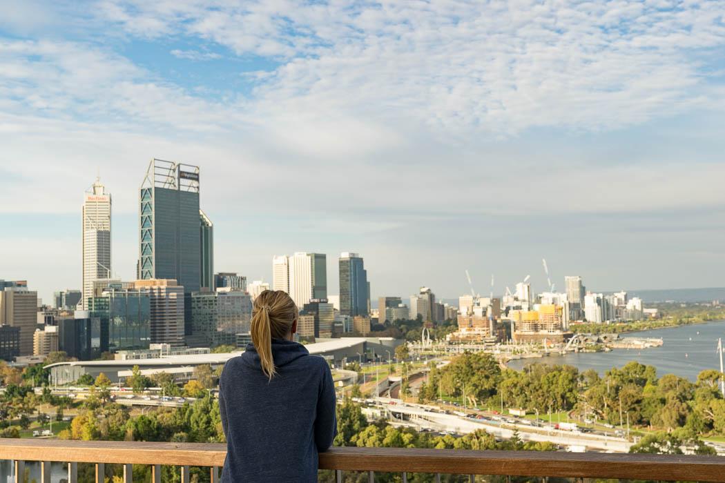Aussicht auf Perth vom Kings Park aus