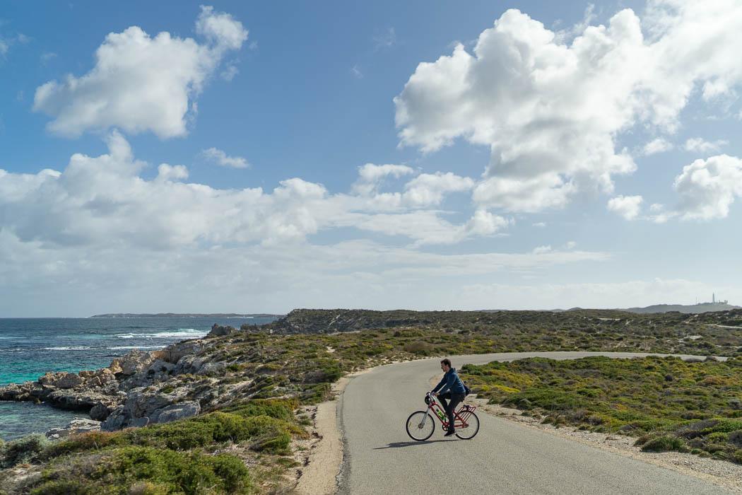 Mit dem Fahrrad über Rottnest Island