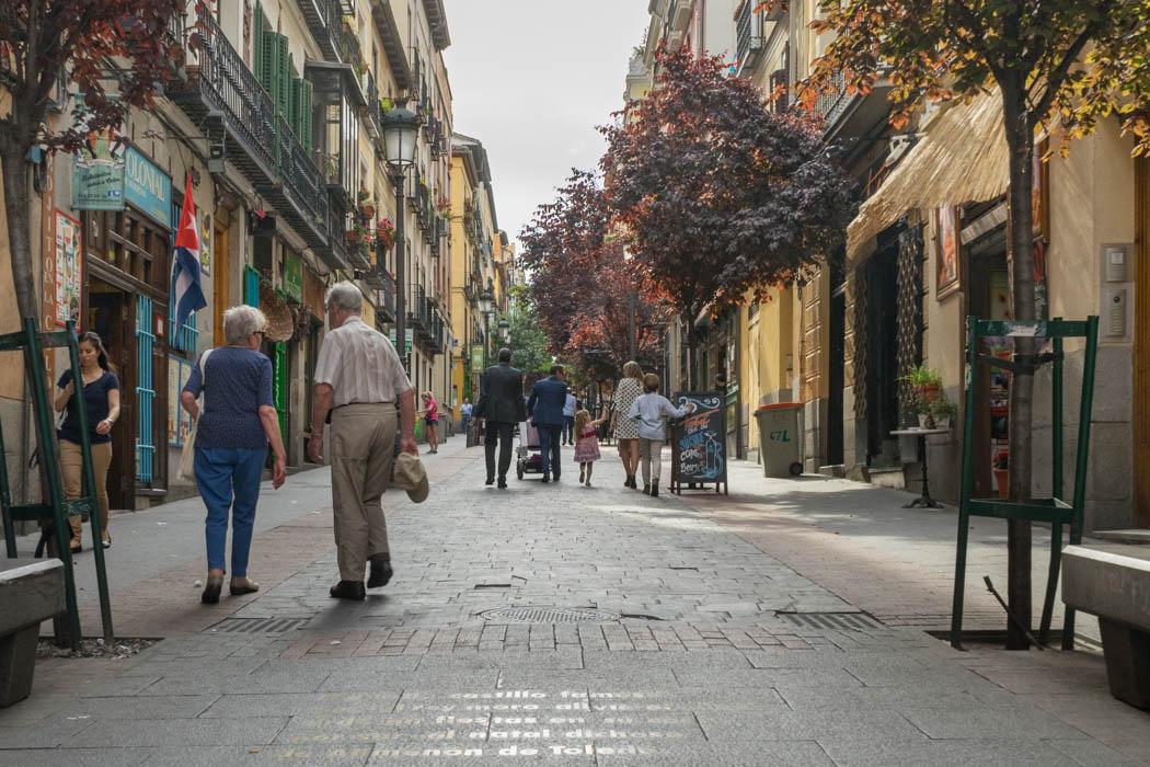 Das Buchstabenviertel in Madrid