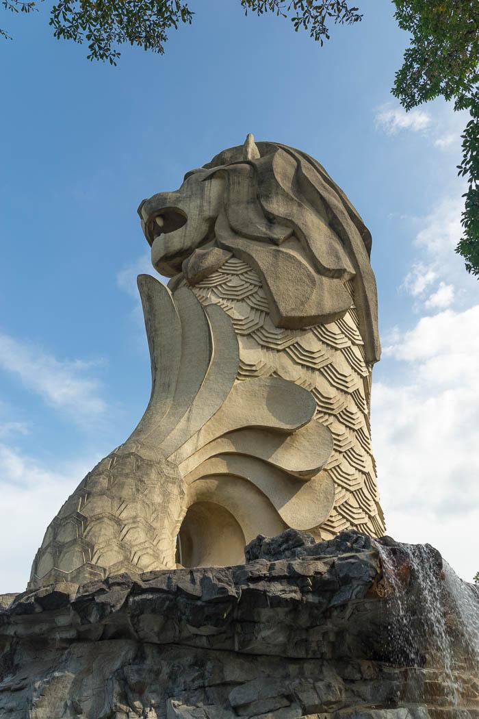 Der Merlion auf Sentosa Island