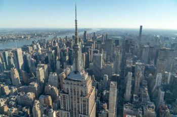Das Empire State Building fotografiert bei unserem Helikopter Rundflug