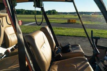 Unser Helikopter von innen