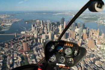 Helikopterflug über New York