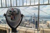Die Aussichtsplattform auf der 86. Etage des Empire State Building.