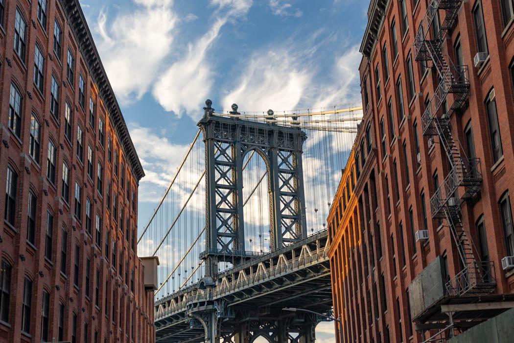Das wohl bekannteste Fotomotiv in Dumbo - das Foto der Washington Bridge