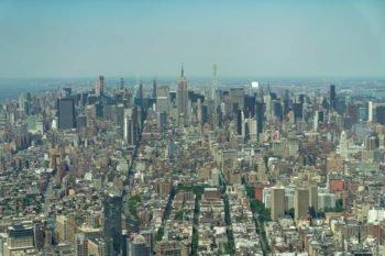Die Aussicht auf Midtown vom One World Trade Center.