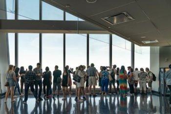 So sieht die Aussichtsplattform im One World Trade Center aus.