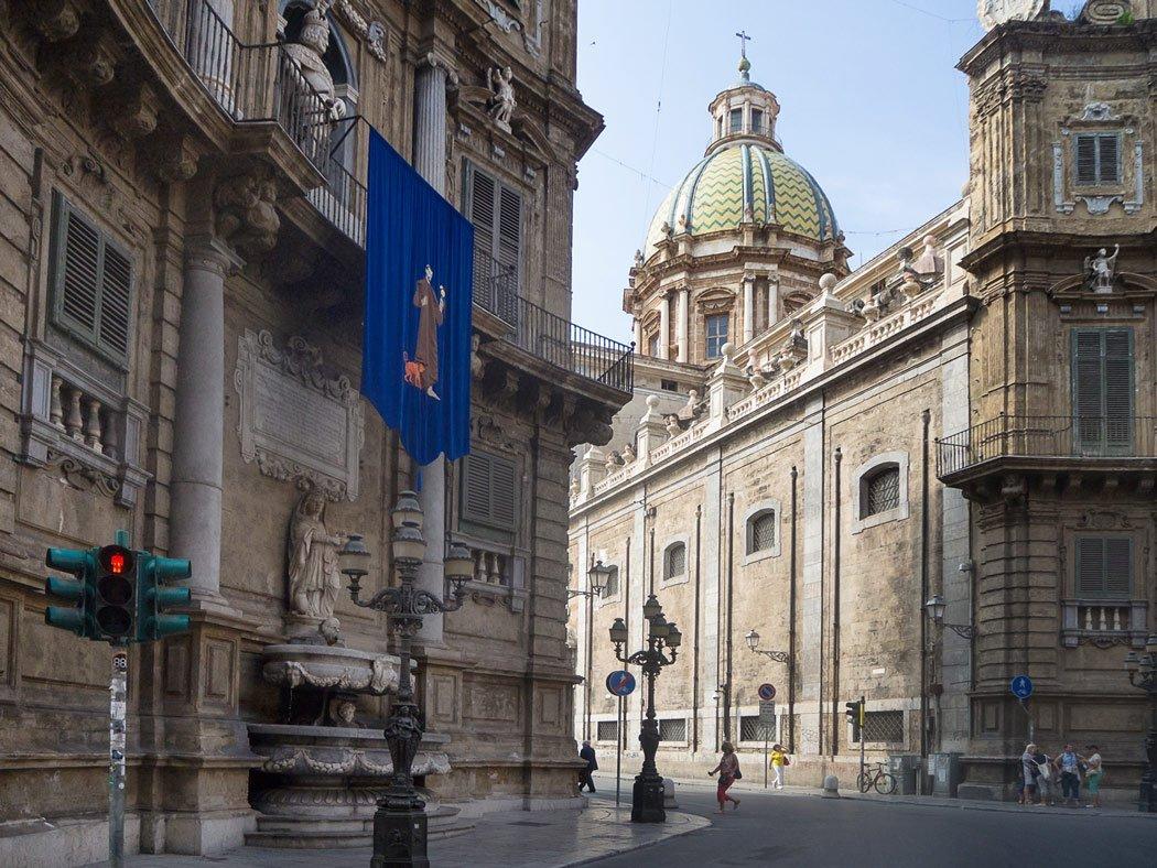 Quattro Canti Kreuzung, Palermo
