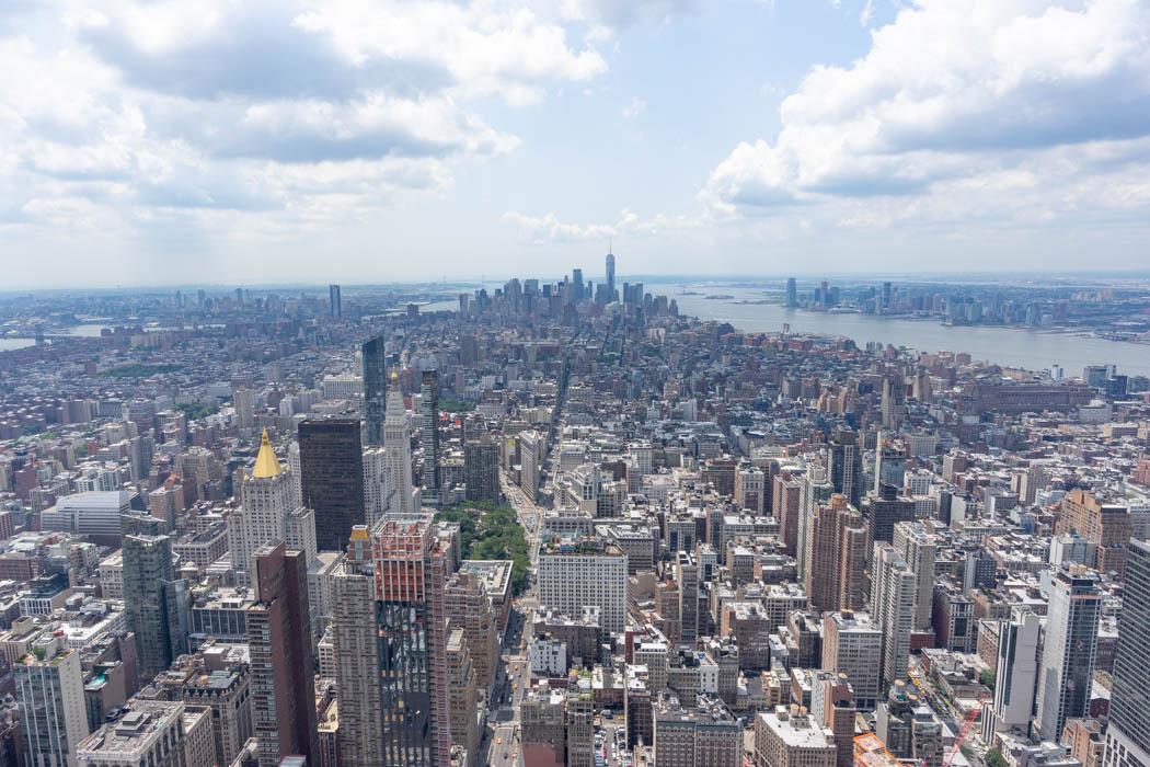 Die Aussicht auf Downtown vom Empire State Building