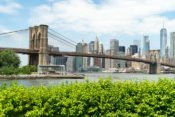 Die Brooklyn Bridge fotografiert vom Main Street Park
