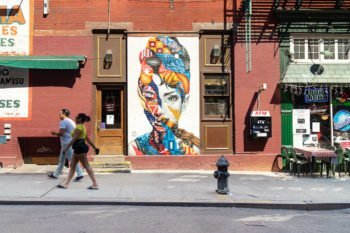 Streetart in der Mulberry Street, Little Italy in New York