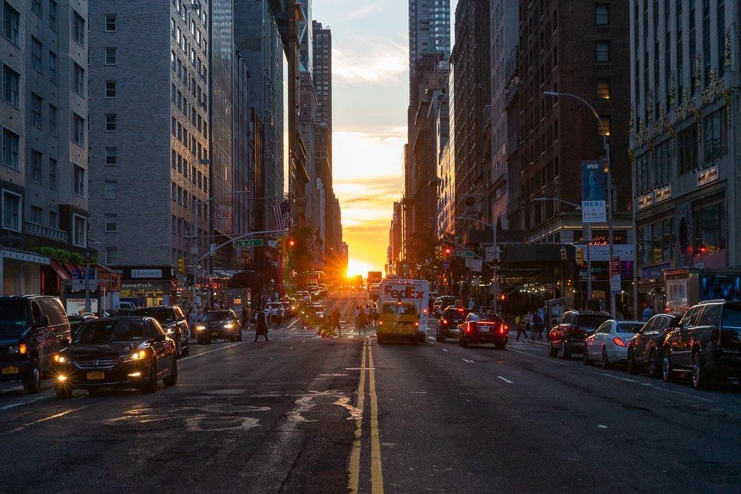 Manhattanhenge Fotospot