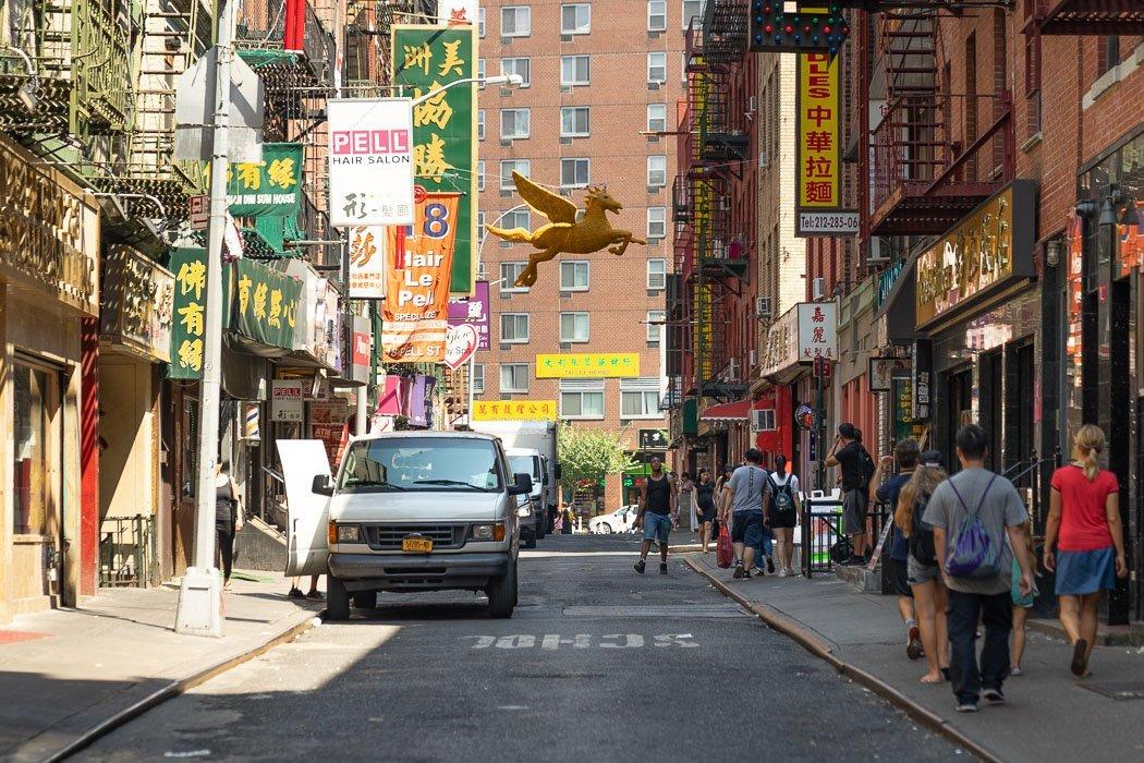 Die Pell Street in Chinatown