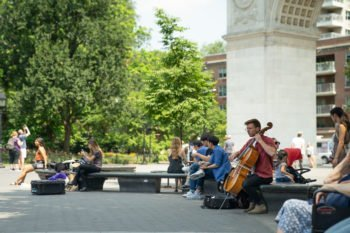 Der Washington Square Park in Greenwich Village