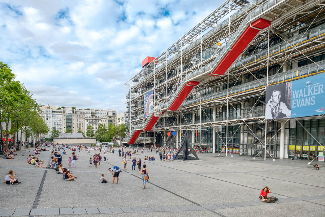 The Centre Pompidou, Museum of Modern Art