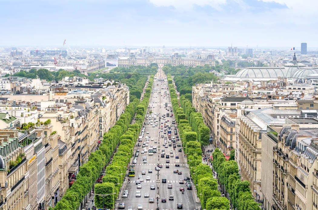 View of the Champs Elysées, Paris