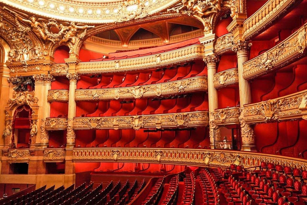 Interior view of the Opéra Garnier in Paris