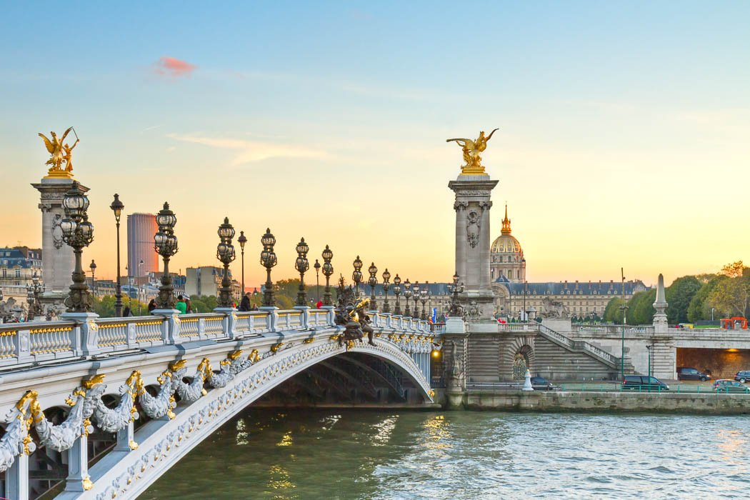Pont Alexandre III Brücke in Paris