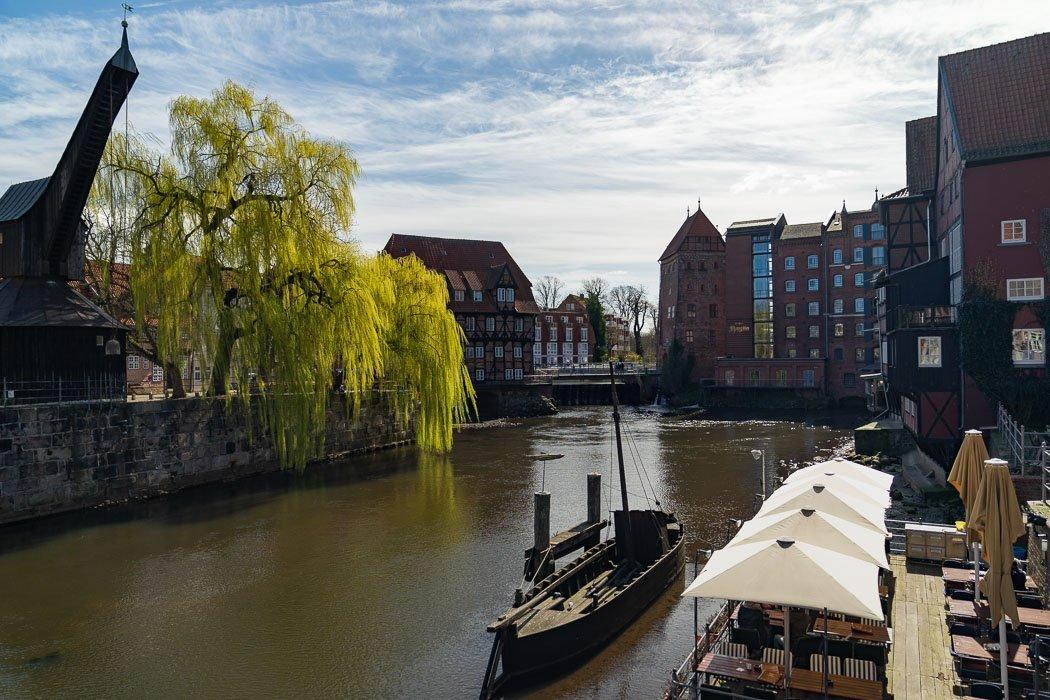 Wasserviertel Lüneburg mit dem Kran