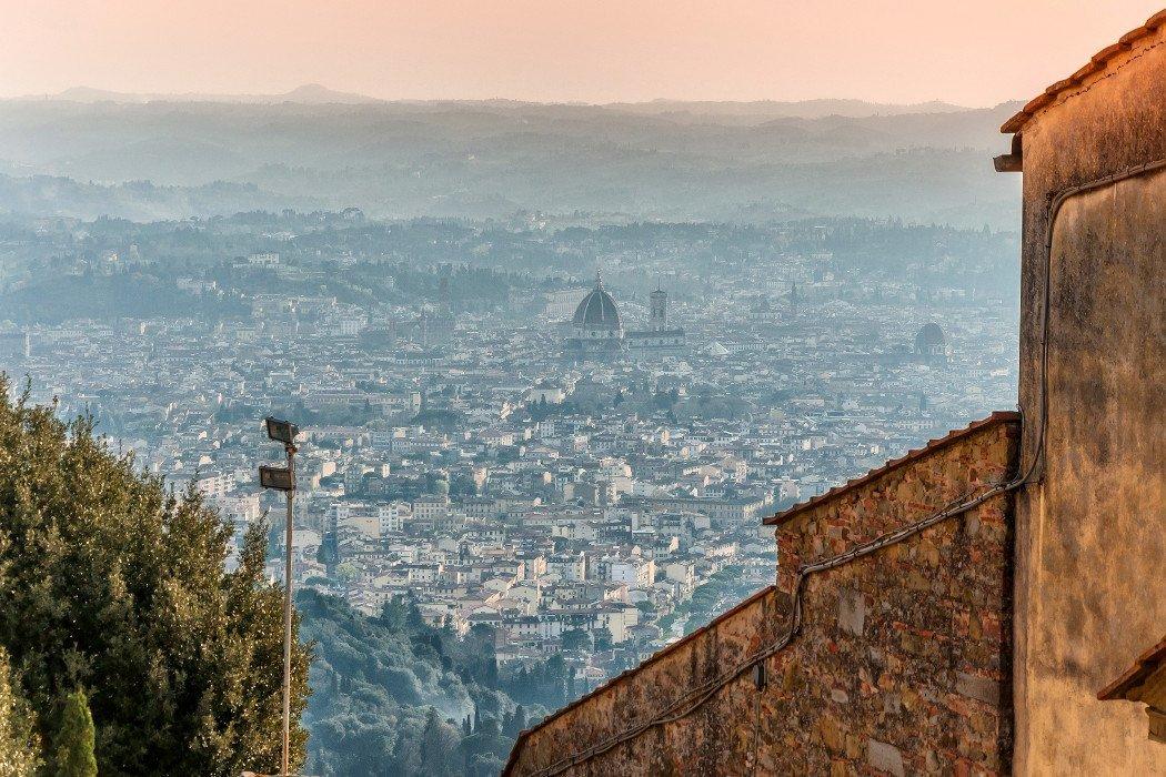 Blick auf Florenz zum Sonnenuntergang
