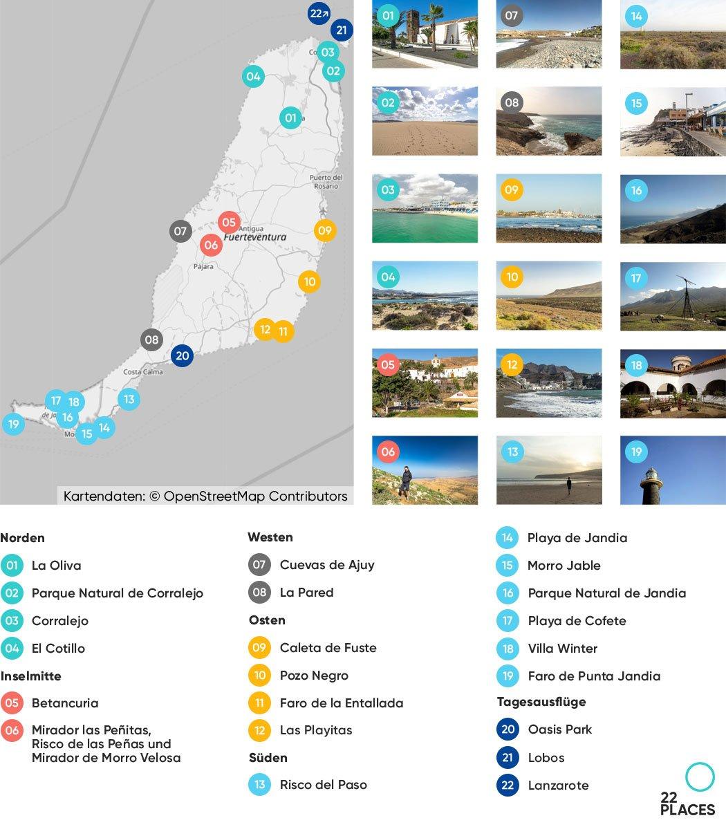 Fuerteventura Sehenswürdigkeiten Karte
