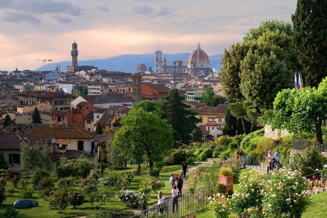 Garten mit Blick auf Florenz
