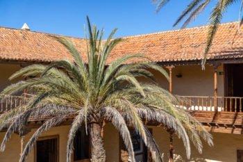 Der Innenhof der Casa de los Coroneles