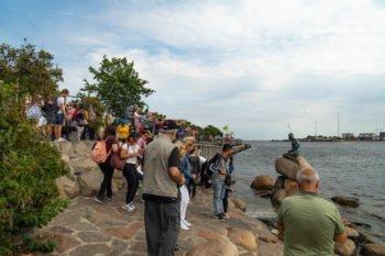 Kleine Meerjungfrau Touristen