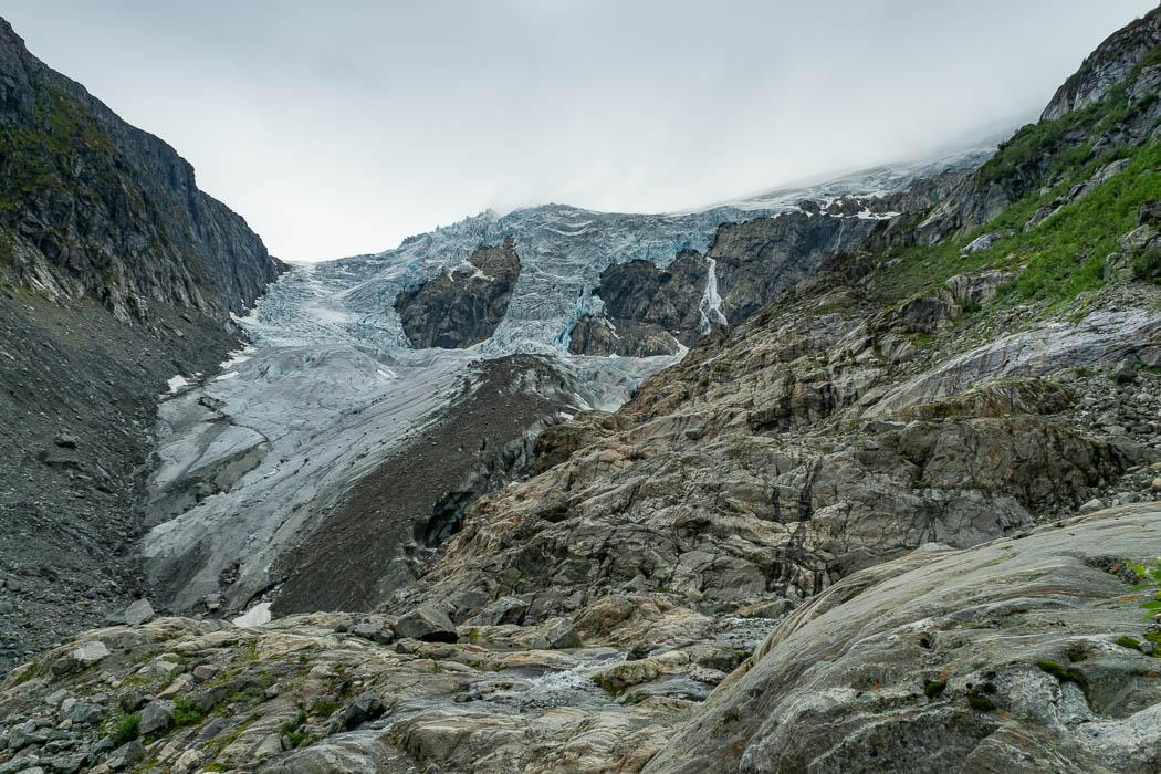Blick auf den Buarbreen Gletscher