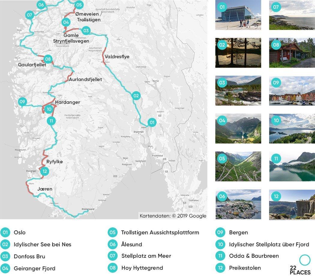 Norwegen Rundreise: Unsere Route & die besten Tipps [+Karte]