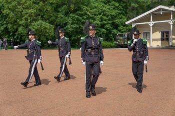 Guardwechsel am Königspalast in Oslo