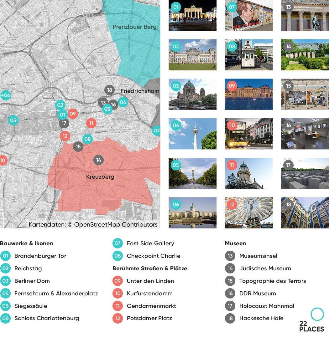 Berlin Sehenswürdigkeiten Karte