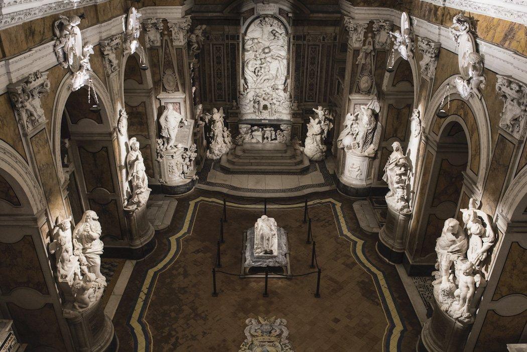 Innenansicht der Cappella Sansevero in Neapel