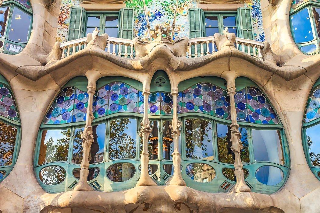 Fenster der Casa Batllò