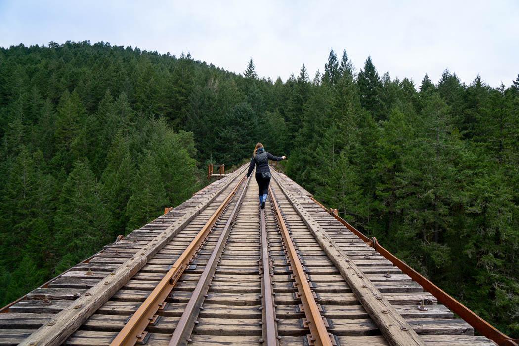 Eisenbahnbrücke Goldstream Provincial Park