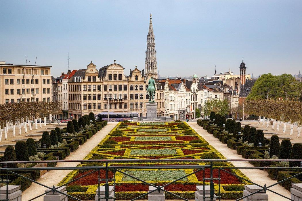 Mont des Arts Blick auf Brüssel