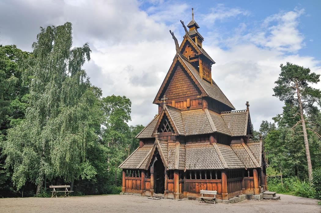Stabkirche von Gol im norwegischen Freilichtmuseum
